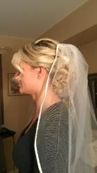 Full Detailed Up-do for Bride by Bridal Hairstylist
